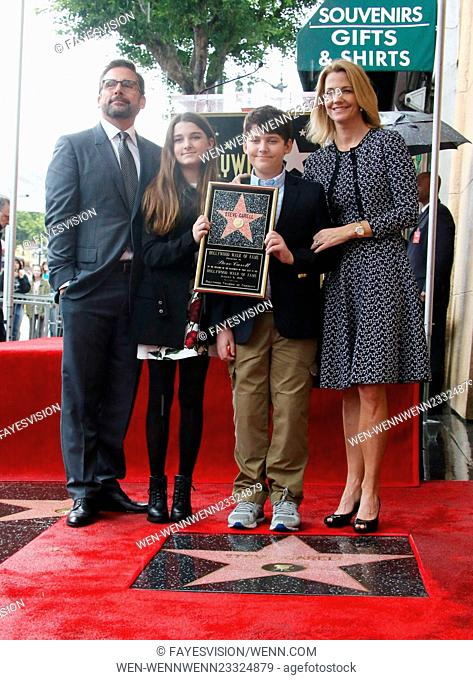 Steve Carell Honored With Star On The Hollywood Walk Of Fame Featuring Steve Carell Stock Photo Picture And Rights Managed Image Pic Wen Wennwenn23324879 Agefotostock Steve carell, john carell, elisabeth anne carell and nancy. steve carell honored with star on the