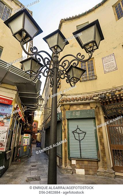 Lampost, Malaga, Andalucia, Spain