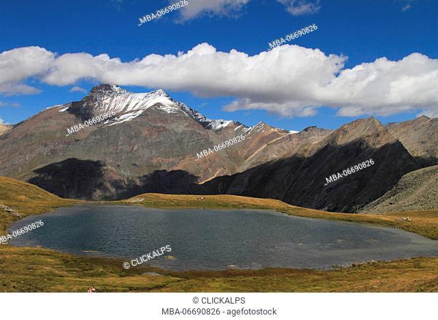 lake Djouan, valsavarenche, national park, italy