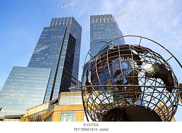 USA, New York State, New York City, Time Warner Center, low angle view