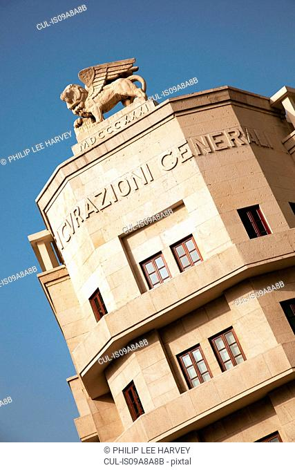 The Assicurazioni Generali Building, an Art Deco structure at Place d'Etoile (Nejmeh Square) in Beirut, Lebanon