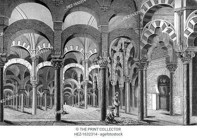The Mezquita, Córdoba, Spain, 1849. The Mezquita was originally built to be a warehouse/temple/lighthouse. It later became the second-largest mosque in the...
