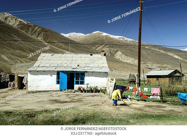 Basic home near the Pamir Highway, Tajikistan, Centra Asia