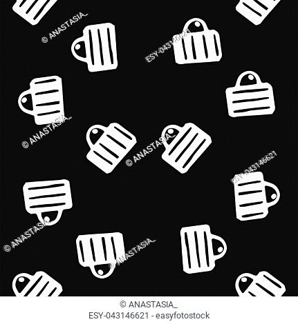 """Vector hand drawn poster in the style of """"""""Hygge"""""""" and seamless pattern with a picture of circles in Scandinavian folk patterns"""