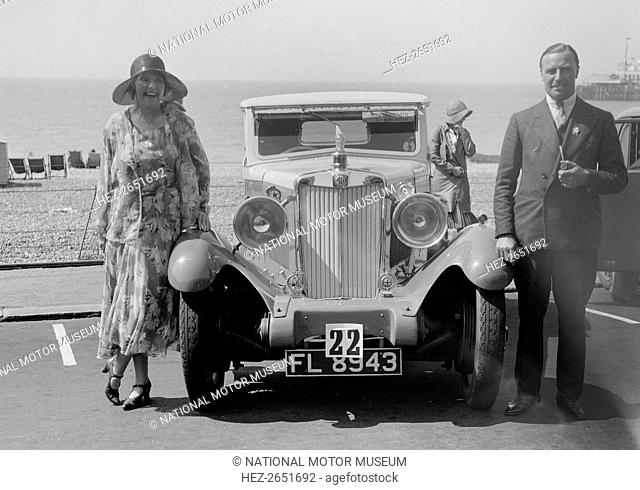 MG 18/80 Saloon. 1930 2468 cc. Reg. No. FL8943. Event Entry No: 3/22. Driver: Gough, Mrs. R. No. 22 is for Concours d'elegance competition