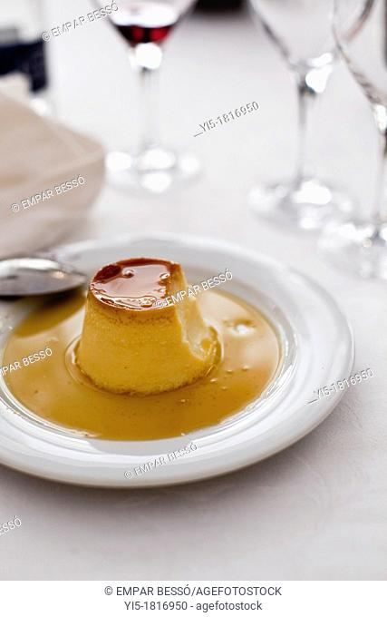 Crème caramel. Valencia. Spain
