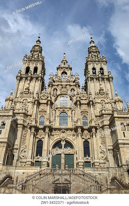 Santiago de Compostela Cathedral, Praza do Obradoiro, Santiago de Compostela, Galicia, Spain, Europe
