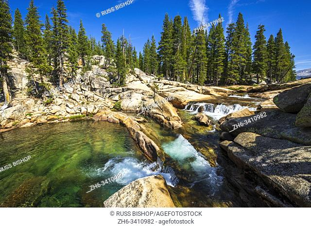 Tuolumne River, Tuolumne Meadows, Yosemite National Park, California USA