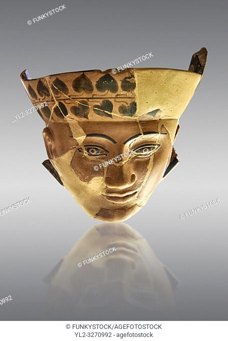 An Etruscan Dinos ( style of vase) with a face, from the Group of Dinoi Campana Ribbon Painter, 540-520 B. C. inv 3784, National Archaeological Museum Florence