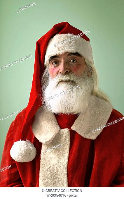 Santa Claus raising his eyebrowns