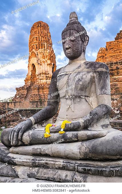 Thailand, Ayutthaya province, Ayutthaya, Historical Park listed as World Heritage by UNESCO, Wat Mahathat
