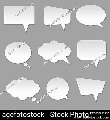 White blank cloud bubble speech isolated Vector illustrationfor for your design