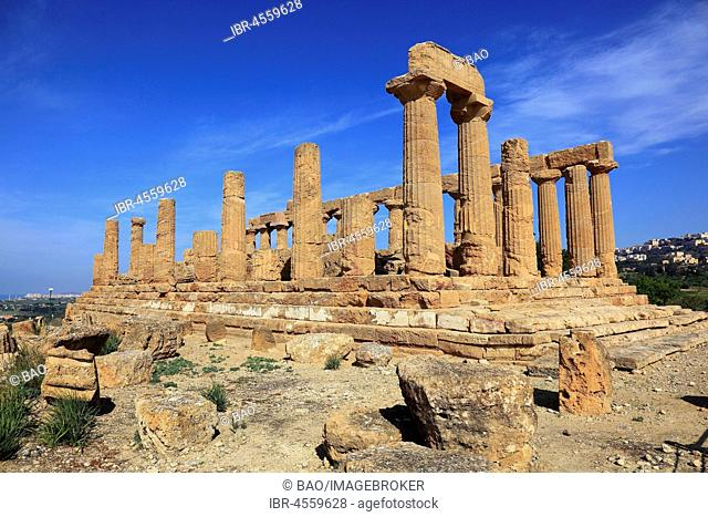 Valle di Templi di Agrigento, Temple of Hera Lakinia or Temple of Juno, Tempio di Giunone, Agrigento, Sicily, Italy