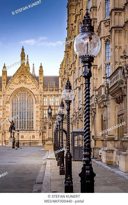 UK, London, old palace yard of Palace of Westminster