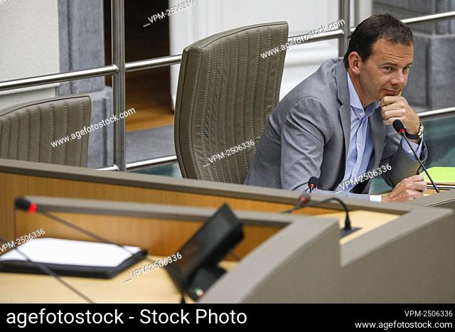 Flemish Minister of Welfare Wouter Beke pictured during a plenary session of the Flemish Parliament in Brussels, Wednesday 03 June 2020