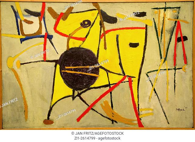 'sun beast and man' from Karel Appel