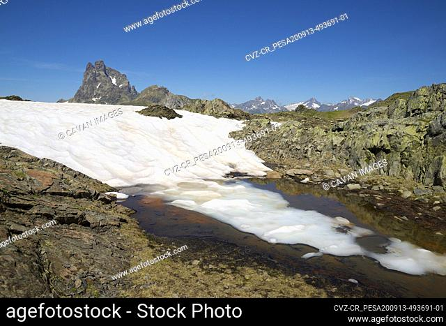 Landscape in Ossau Valley, Pyrenees in France