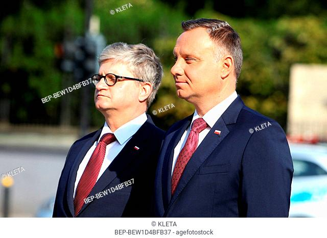 August 15, 2018. Armed Forces Day in Warsaw. Poland. Pictured: President of Poland Andrzej Duda