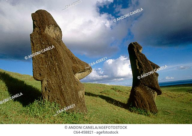 Moais. Easter Island, Chile
