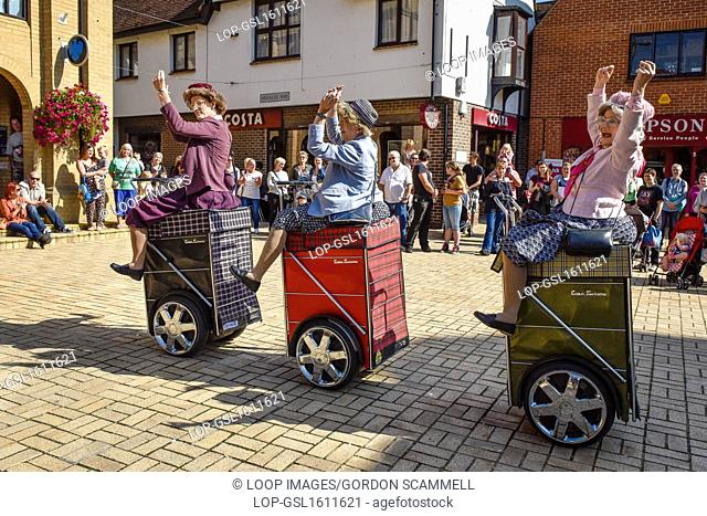 The world's first and only shopping dance display team called Granny Turismo perform in South Woodham Ferrers town centre