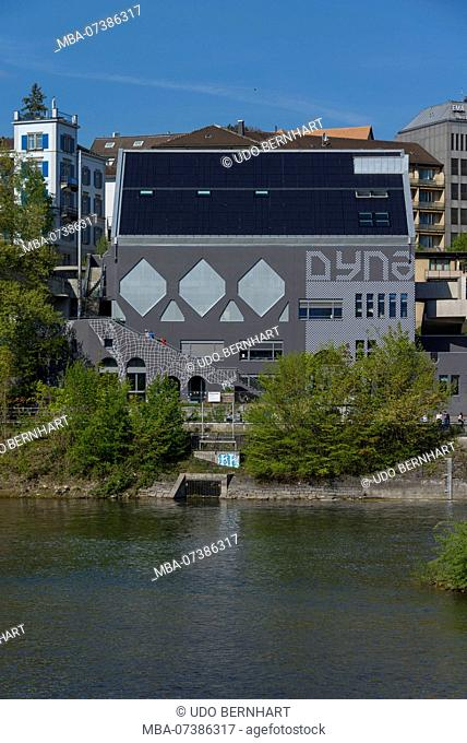 Dynamo youth culture house at Limmat, Wasserwerkstrasse, Zurich, Canton of Zurich, Switzerland