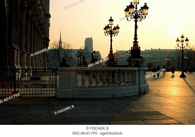 Square in front of city hall Paris France