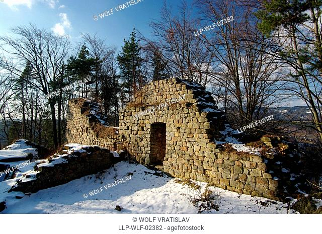 Zbiroh Castle Ruins, Bohemian Paradise, the Northern Bohemia, Czech Republic