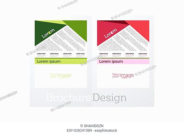 Nice and beautiful vector flyers for business in a creative two different color patches in a creative gradient color background