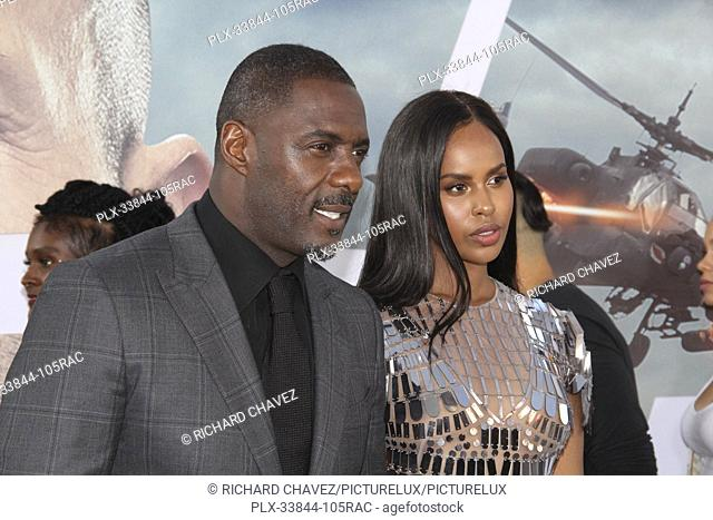 "Idris Elba and wife Sabrina Dhowre Elba at the Universal Pictures World Premiere of """"Fast & Furious Presents: Hobbs & Shaw"""""
