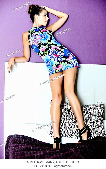 young, beautiful woman, stylish, long legs (model-released)
