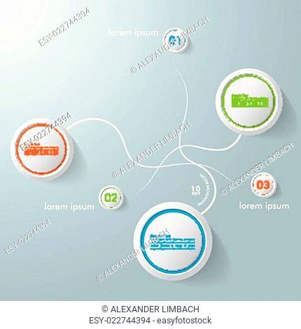 Infographic Design Swirls Circles 3 Options