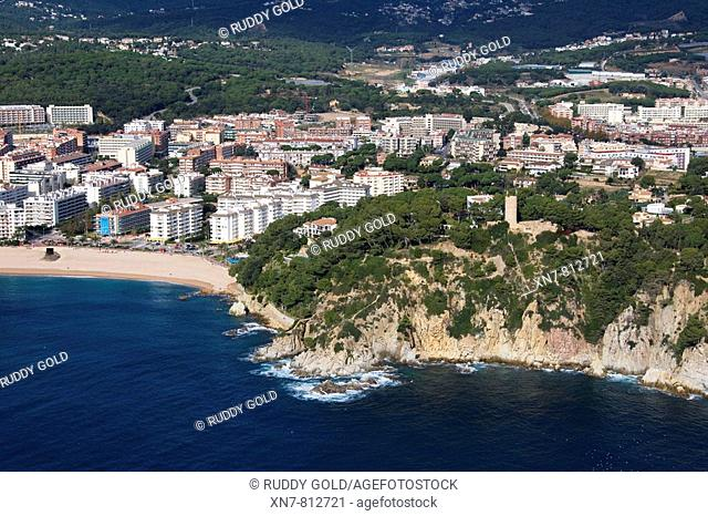 Spain, Catalonia, Girona, La Selva, Costa Brava, Lloret de Mar, Fenals