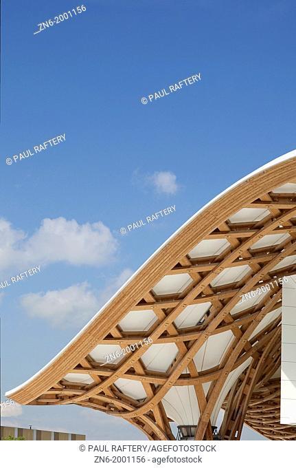 Centre Pompidou-Metz, Metz, France, Shigeru Ban and Jean De Gastines, Centre Pompidou-Metz Architects Shigeru Ban + Jean de Gastines Metz 2010 Roof detail