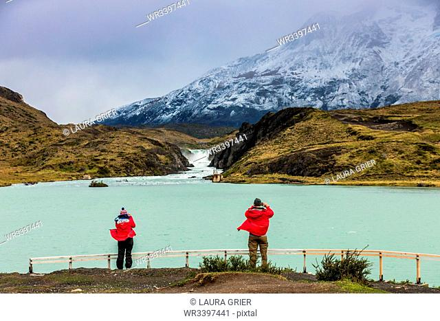 Enjoying the peaceful and beautiful scenery of Torres del Paine National Park, Patagonia, Chile, South America