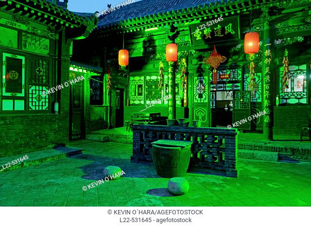 Pingyao city is the only one in China completely preserved as it was hundreds of years ago during the Qing dynasty. Pingyao was a financial center of China