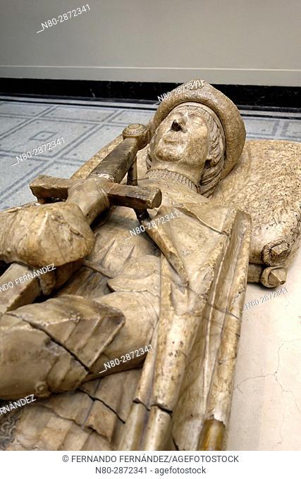 Effigy of Don Garcia de Osorio. Alabaster. Spain. Toledo. 1499-1505. The Victoria and Albert Museum. London. England. UK. Europe