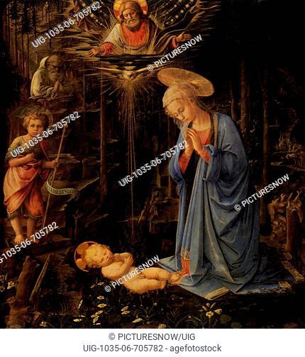 Adoration, with the Infant Baptist & Saint Bernard