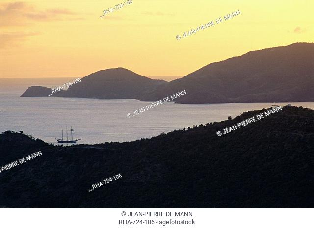 Sunset over English Harbour, Shirley Heights, Antigua
