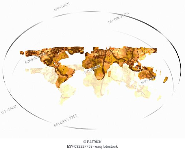 3D illustration, background, World map , Communication concept, copy space
