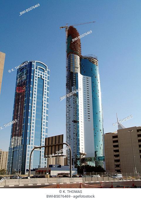 Dubai, Sheik Zayed Road, modern skyline, United Arab Emirates, Dubai