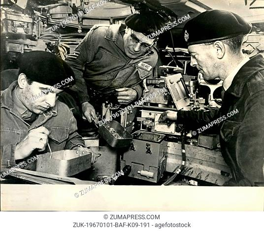 Jan. 01, 1967 - Luncheon - Aboard A Tank; The Army are delighted with their latest tank - the Chieftain. It weighs 50 tons, carries a 120 mm gun