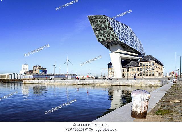 Port Authority Building / Port House / Havenhuis, head office in the Antwerp harbour, Belgium
