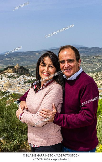 A portrait of a Cuban couple who live in Montefrio, Granada Province, Andalusia, Spain