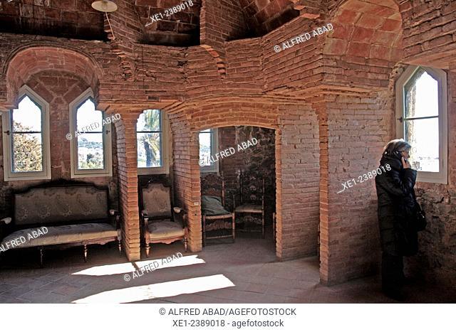Torre Bellesguard, arch. Antoni Gaudi, 1900-1909, Sarria district, Barcelona, Catalonia, Spain