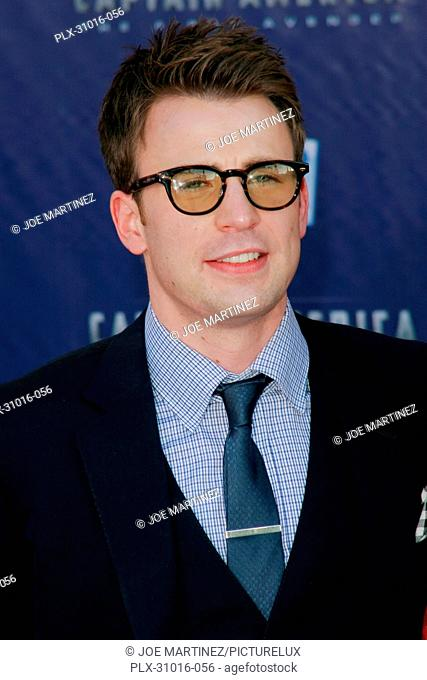 Chris Evans at the Premiere of Paramount Studios and Marvel Entertainment's Captain America. Arrivals held at El Capitan Theatre in Hollywood, CA, July 19, 2011