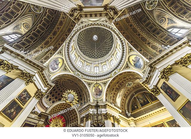 Ceiling of Trinity Cathedral of the Alexander Nevsky Lavra in Saint-Petersburg