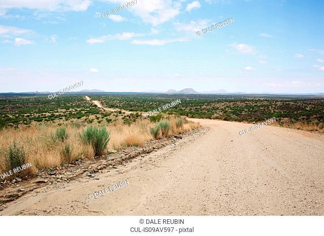 Road to Windhoek through the Namib-Naukluft national park, Namibia