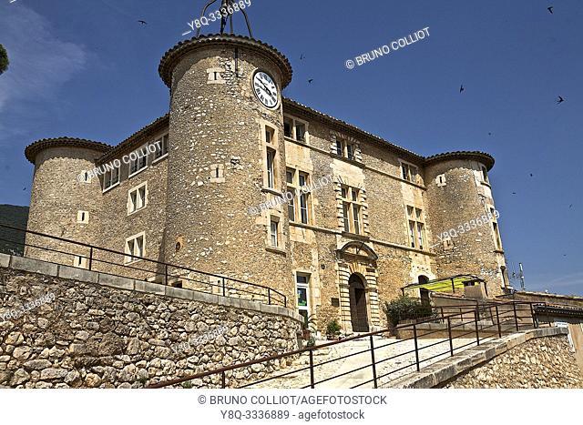 castle in Rustrel. Vaucluse, France