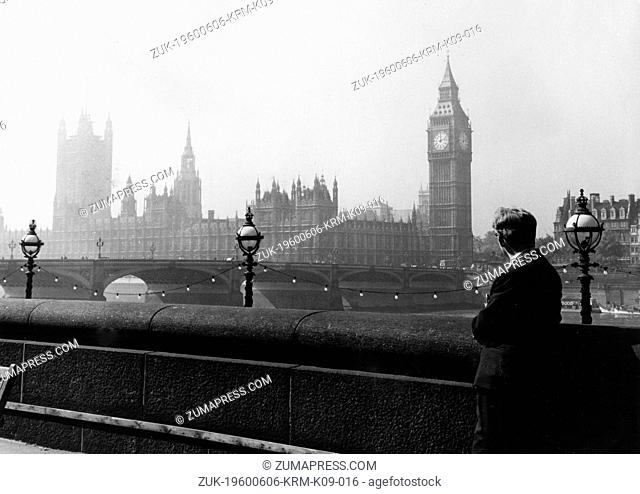 Date Unknown - London, England, U.K. - ALBERT MURRAY gazes at the House of Parliament from across the river. Where the forthcoming General Election will take...