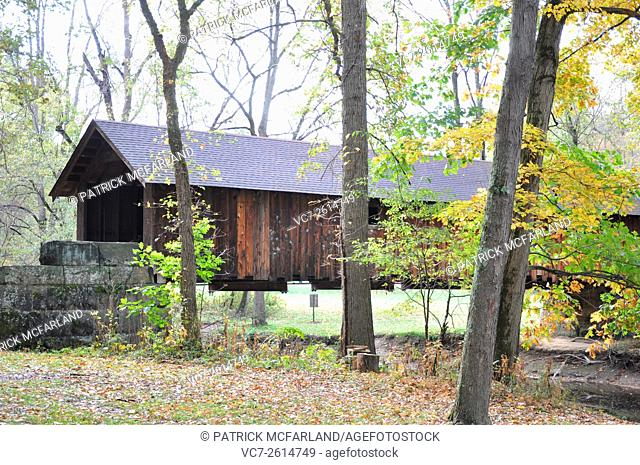 Covered Bridge-Brush Creek Park, Beaver Falls, PA, USA